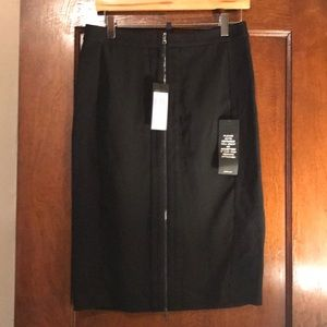 BCBG below the knee lower sheer bottom skirt